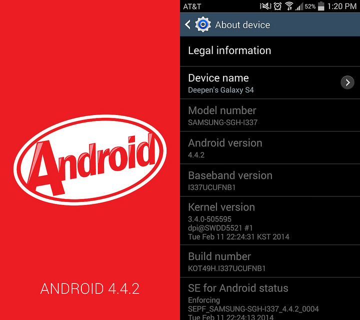 Android 4.4.2 KitKat I337UCUFNB1 Official Firmware ...