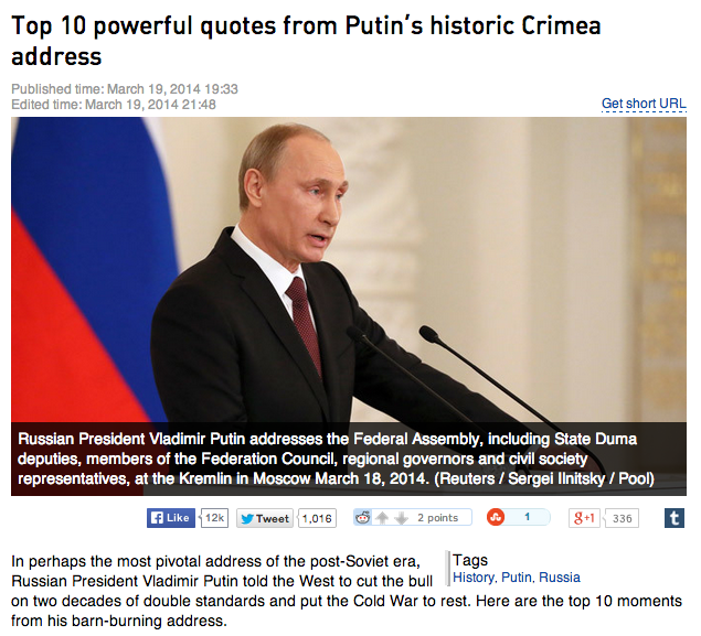 Russia Today Drops All Pretense Of Editorial Independence