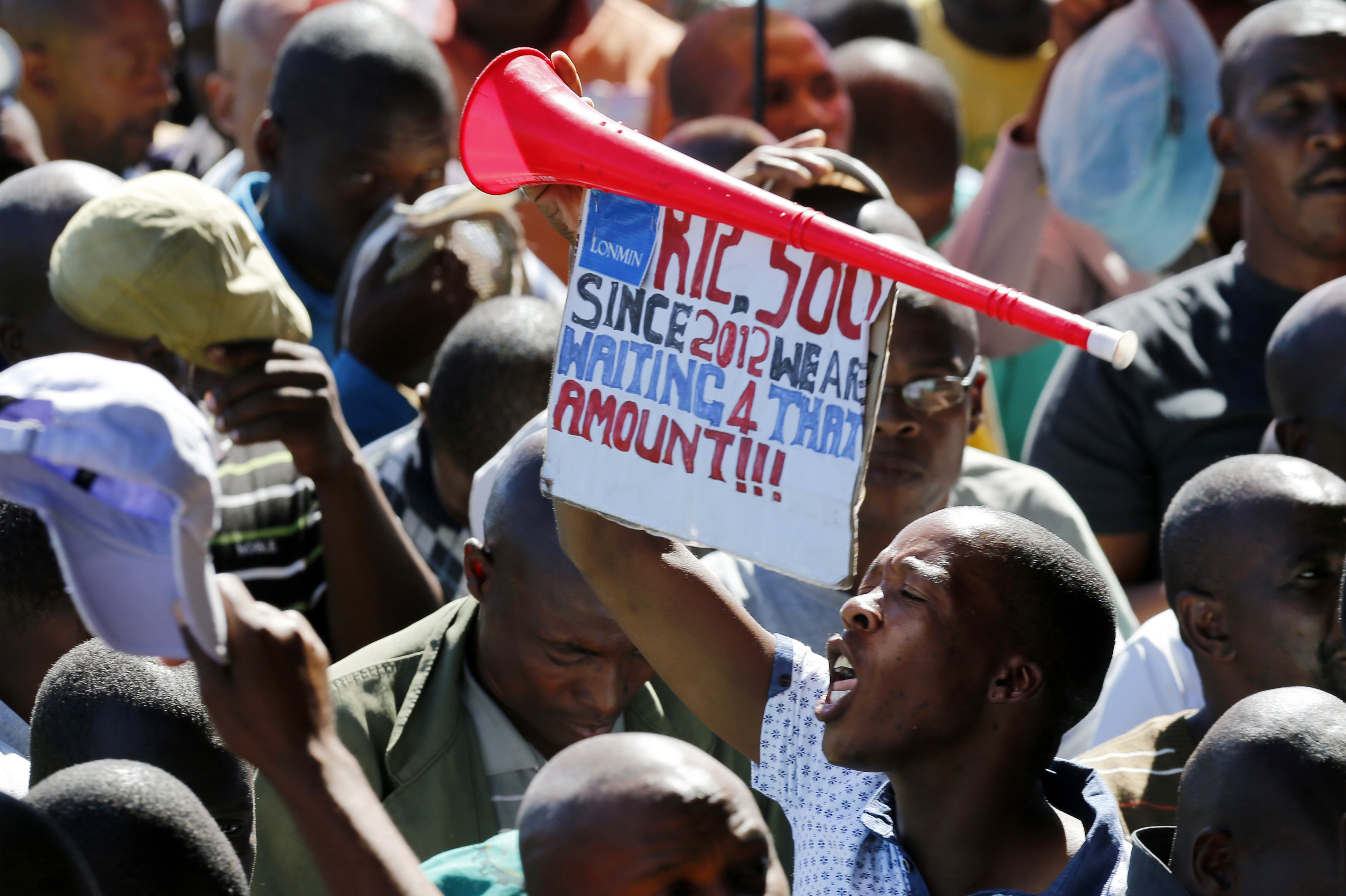 South african mining unions