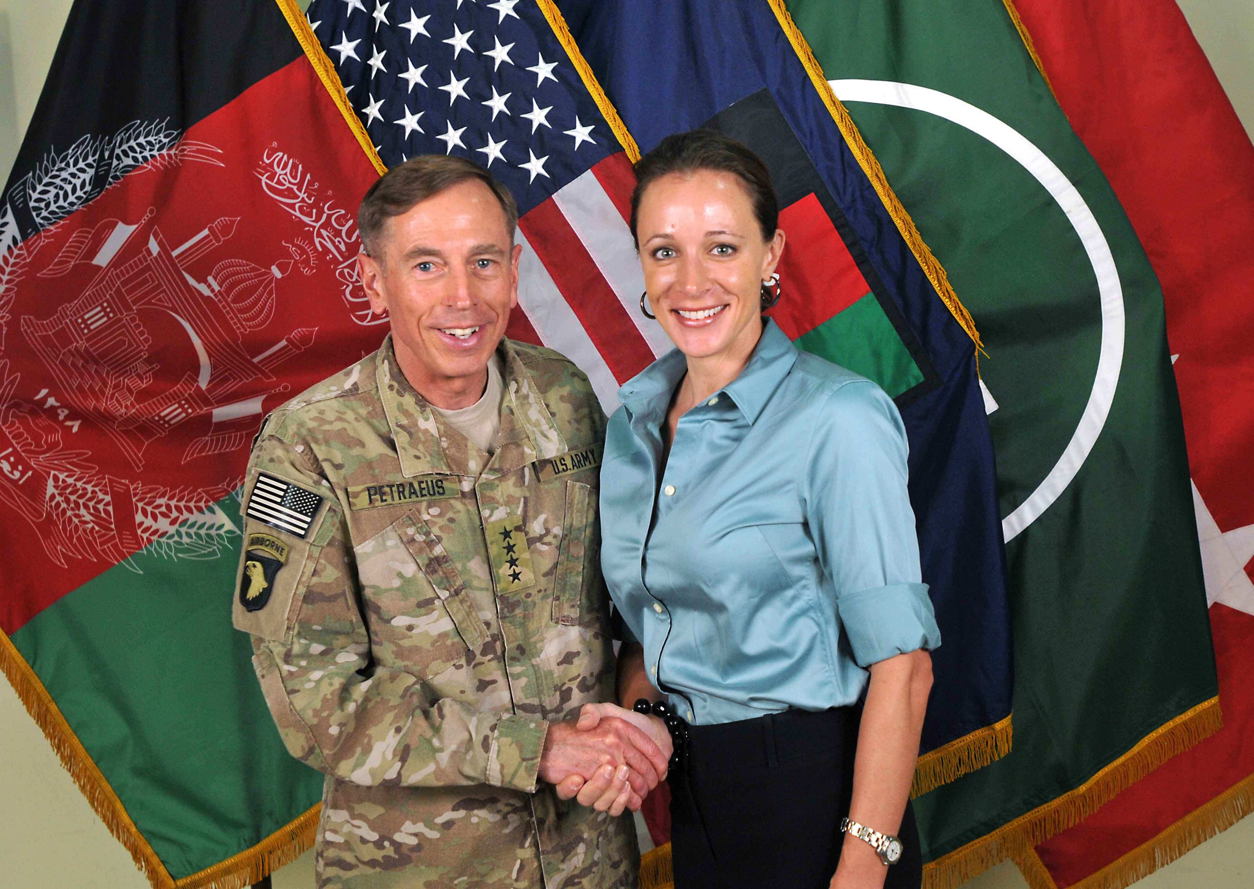 Photo of David Petraeus & his friend, politician  Paula Broadwell