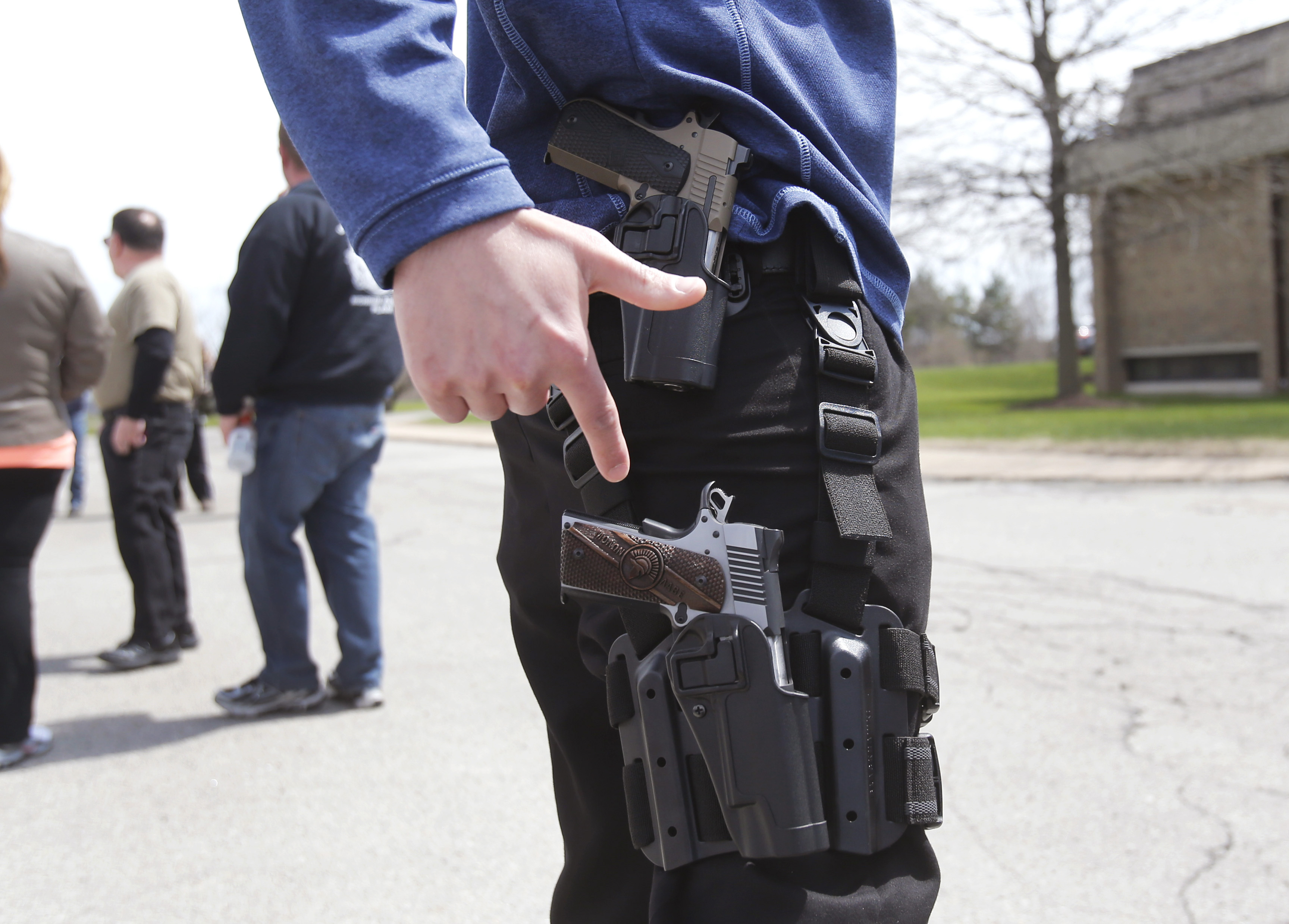 everybody has a right to carry a gun Rating is available when the video has been  biker with a gun gets pulled over  open carry, san antonio texas, 2-20-14, how to handle the.