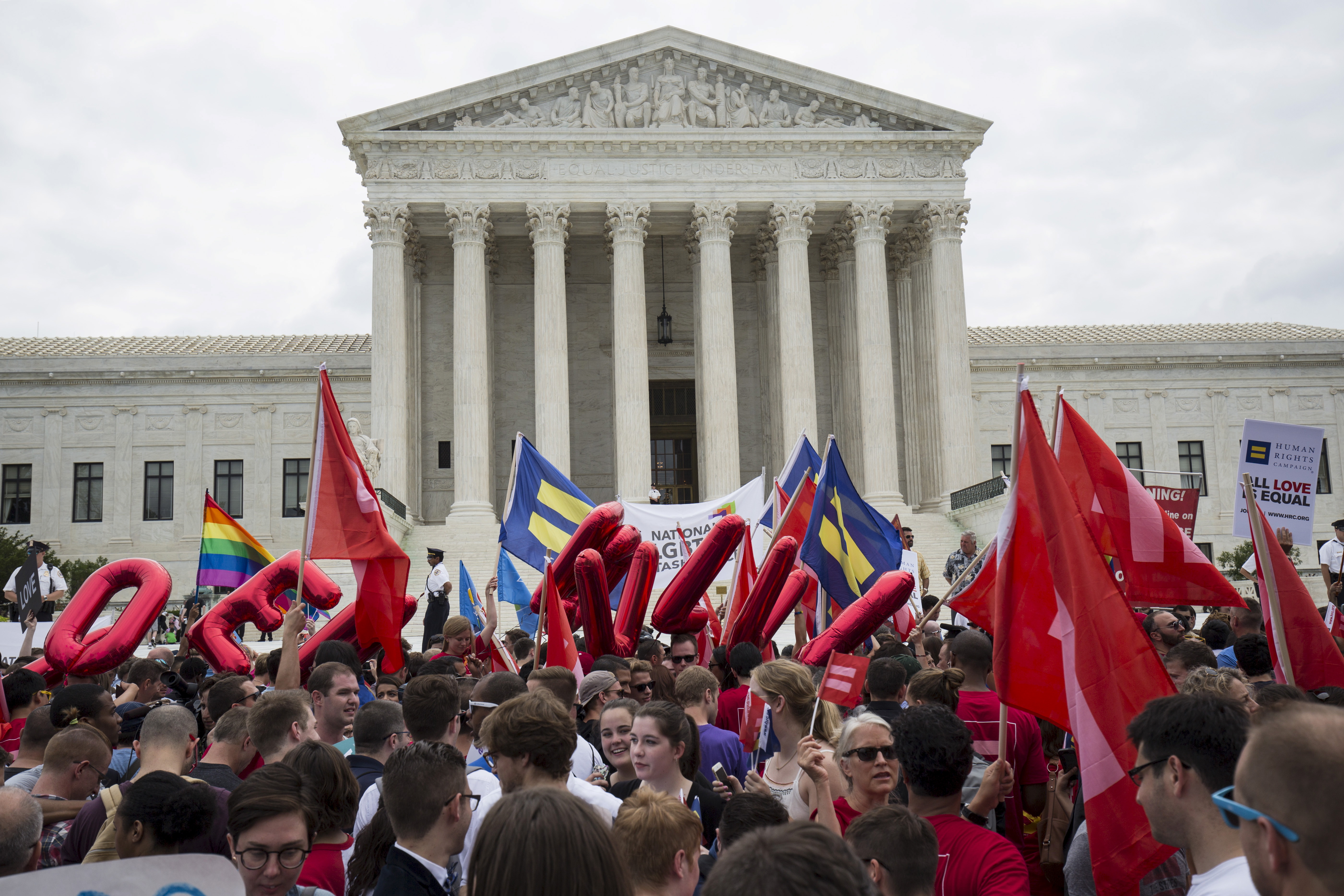 Poll Supreme Court decisions in sync with Americans on gay.