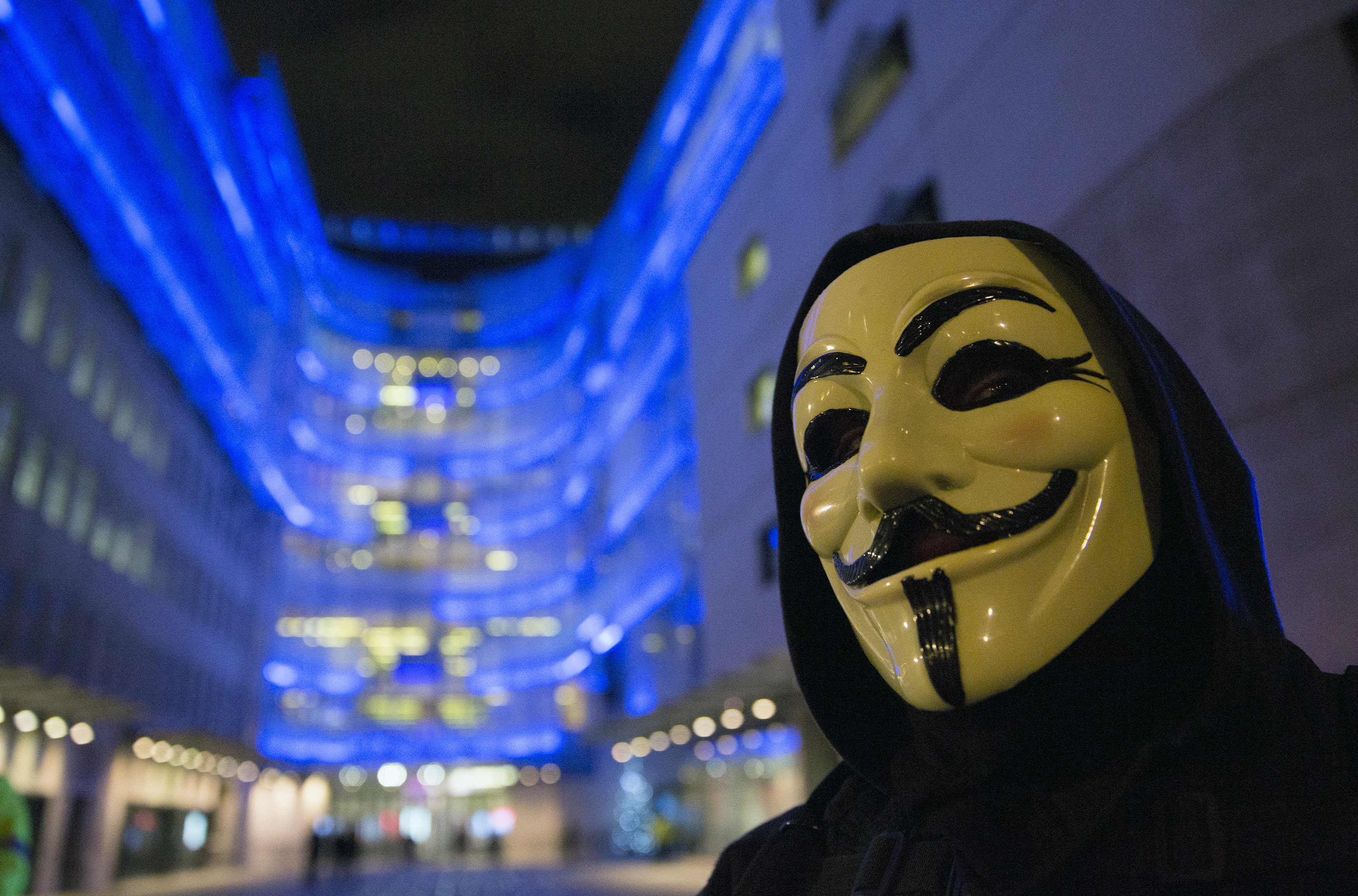 Anonymous Hacks Westboro Baptist Church Anonymous Wearing Guy Fawkes Mask