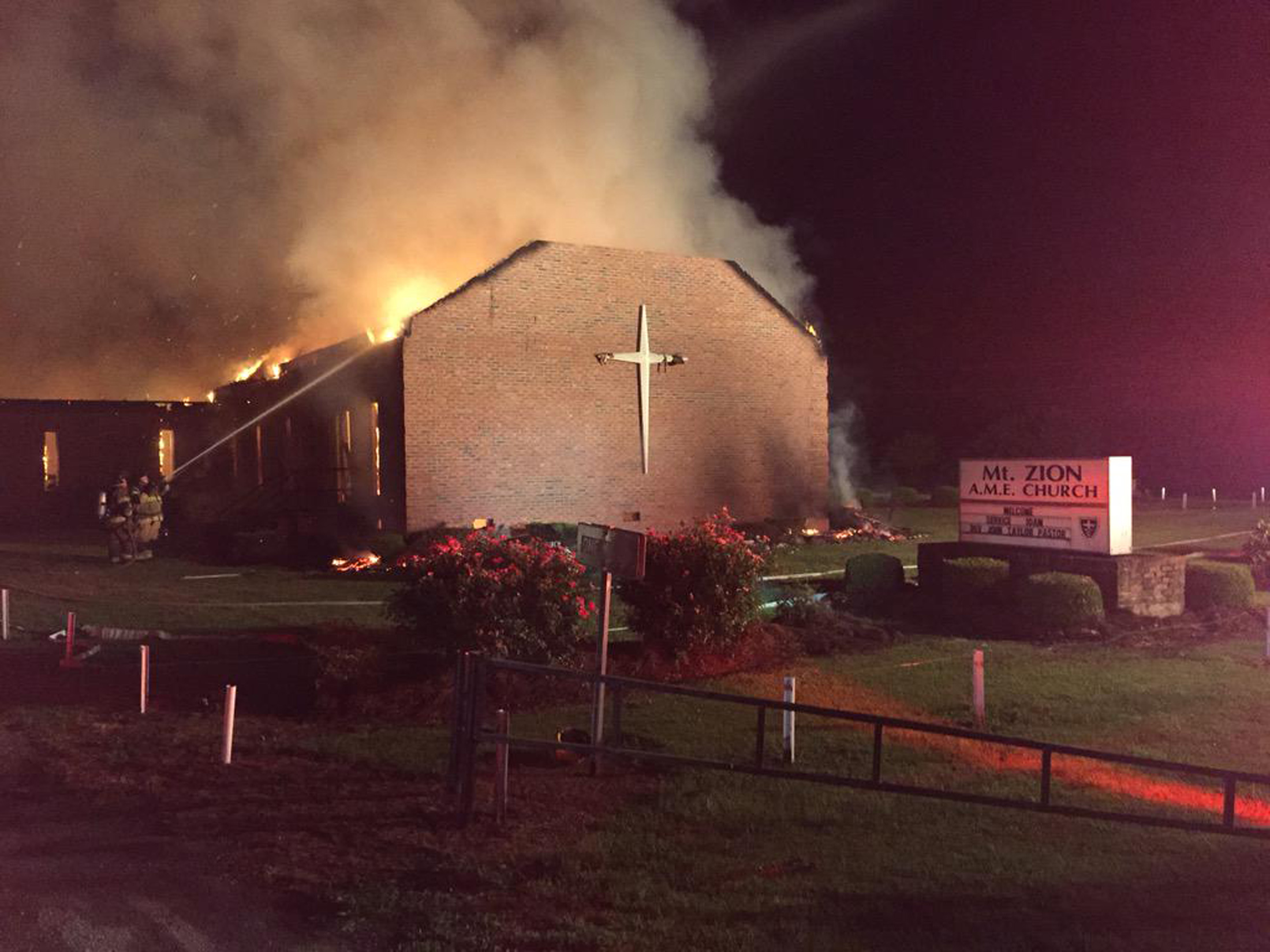 Black churches burning african american congregation leaders