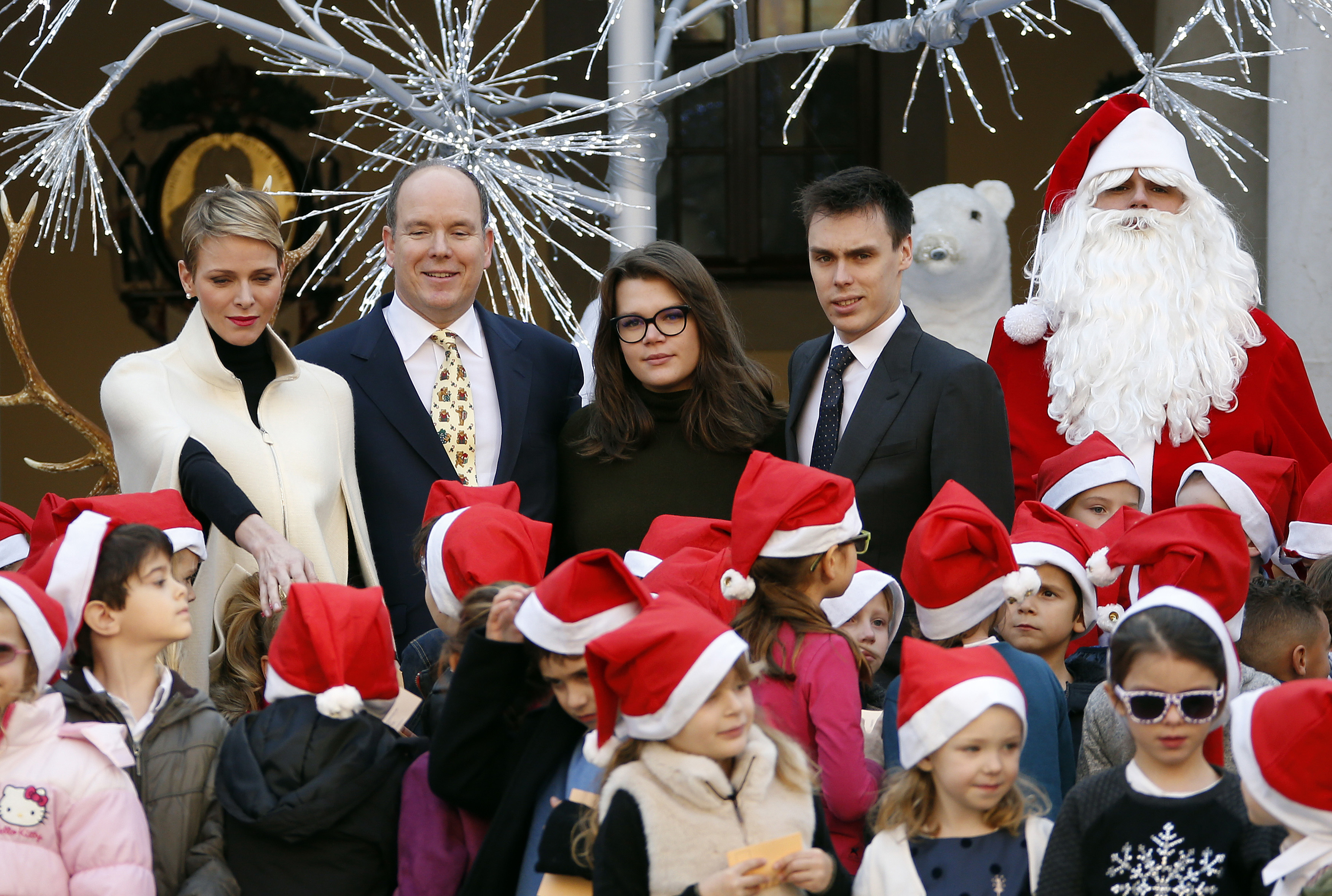 Monaco Royals Host Annual Christmas Party At Pink Palace