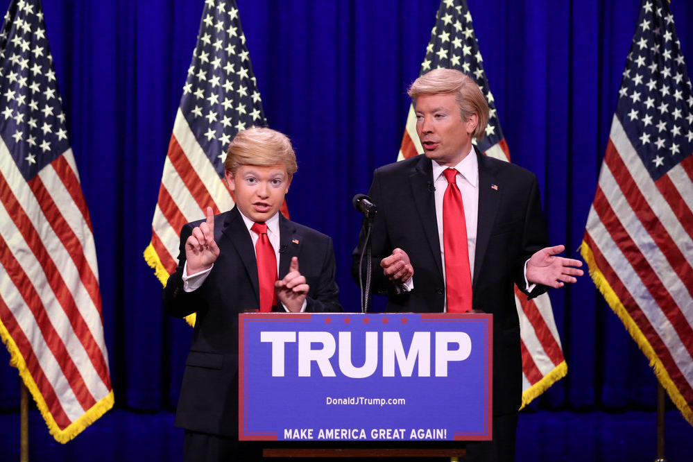 Jimmy Fallon Does Trump Impression, Brings Out 'Little ...