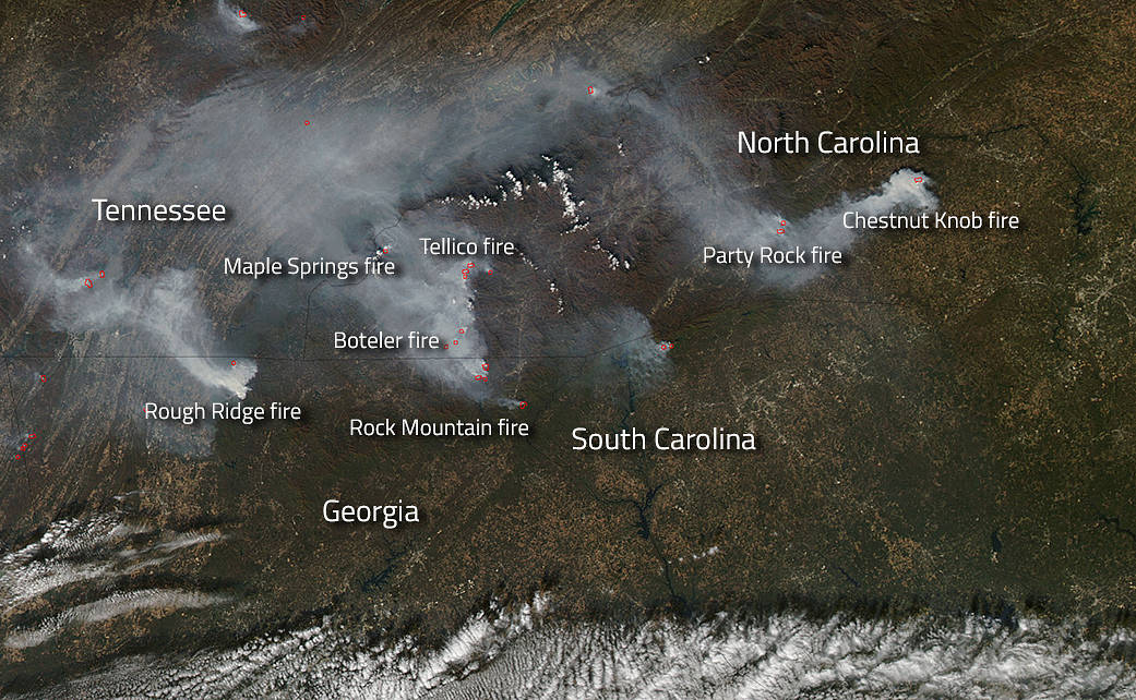 Gatlinburg Fire Map Smoky Mountain Timeline Death Toll From - Us forest service east tn wiildfires map