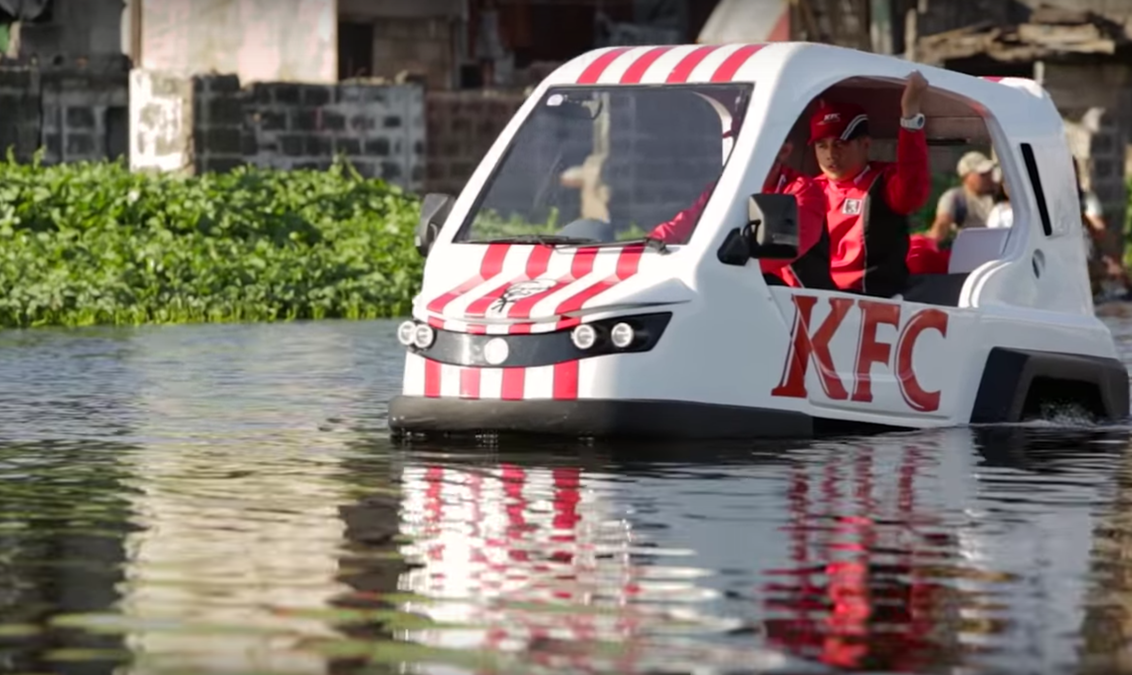 Watch Kfc Uses Hovercraft To Deliver Birthday Surprise To
