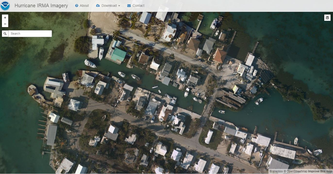 Interactive Aerial NOAA Map Shows Irma Damage In Florida Keys
