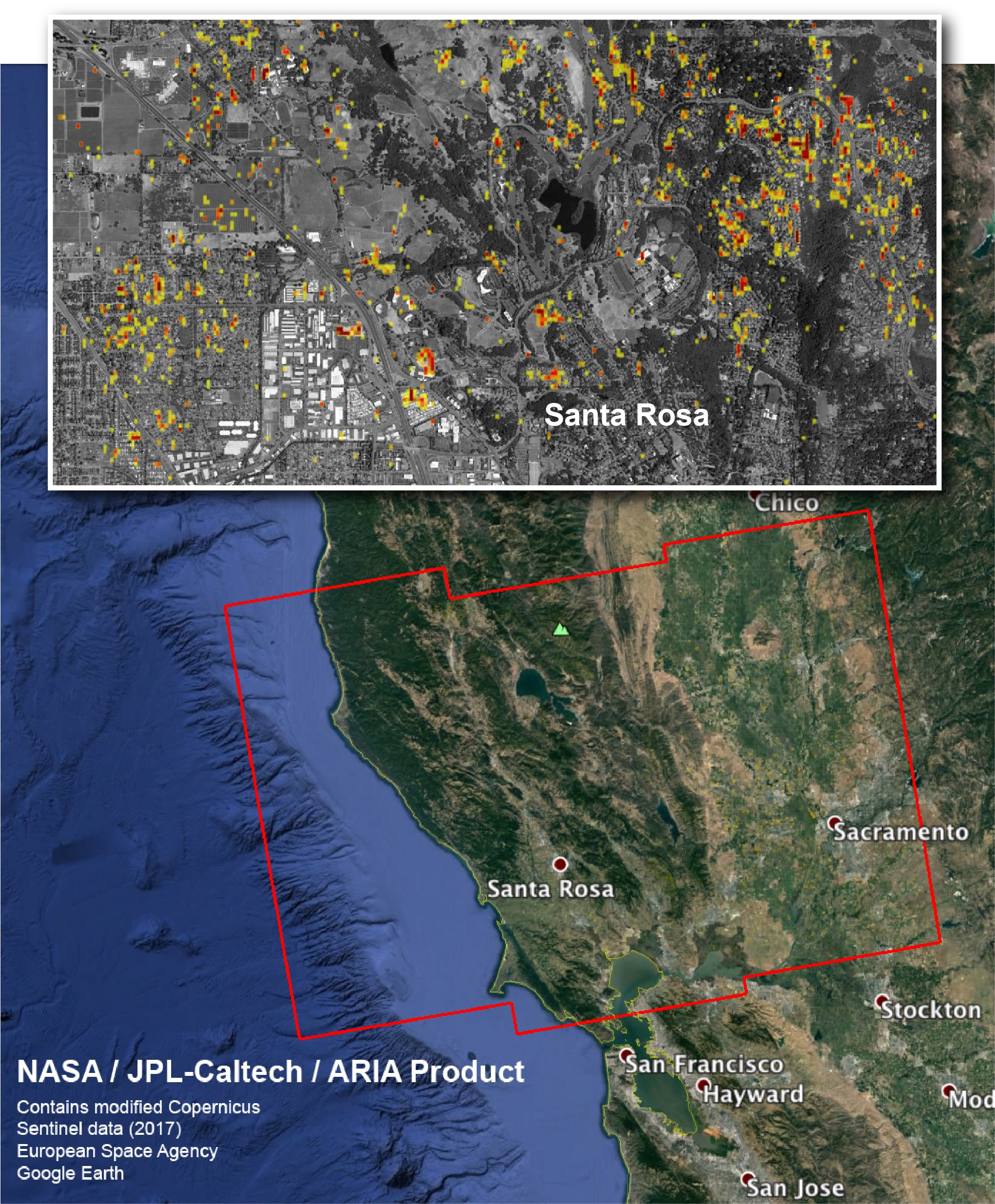 NASA Aerial Photos Of California Fires Show Damage Help First