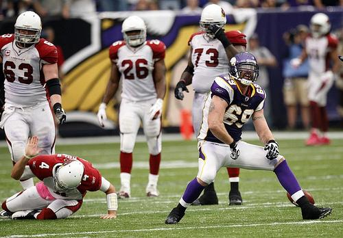 Minnsota Viking's Jared Allen Must be Penalized After His Hit on Chicago Bears' Lance Louis