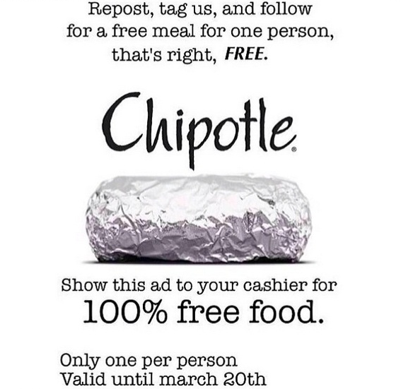 image relating to Chipotle Printable Coupon known as chipotle free of charge burrito, - Trendler Google Glimpse 2016