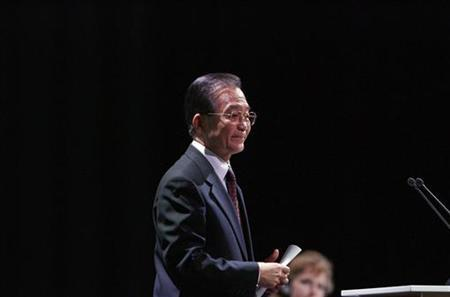 Chinese Premier Wen walks after addressing the session of United Nations Climate Change Conference 2009 in Copenhagen