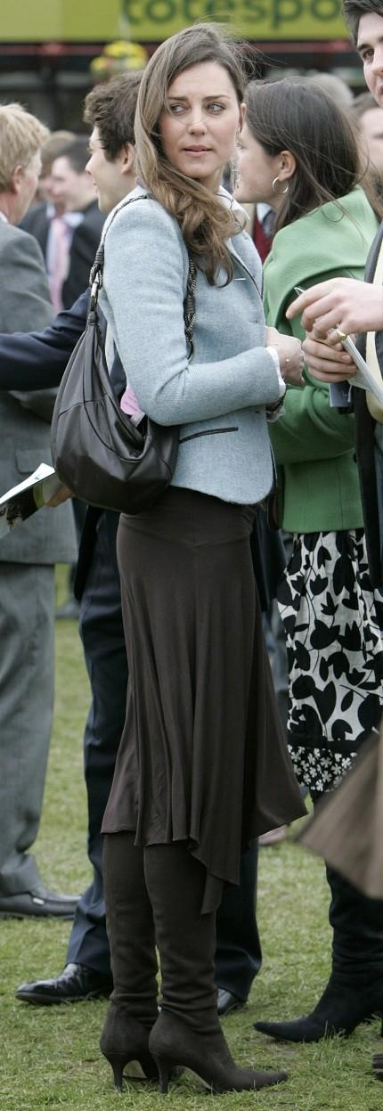 Kate Middleton at a horse racing festival
