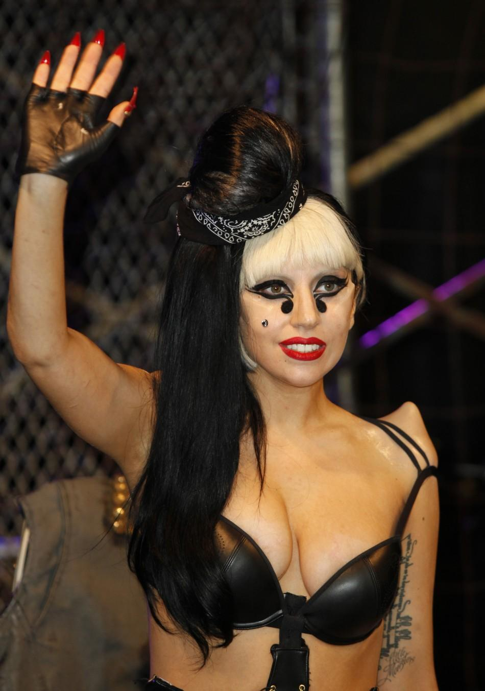 """Singer Lady Gaga arrives at an album signing event for her new release """"Born This Way"""" at Best Buy in New York City"""