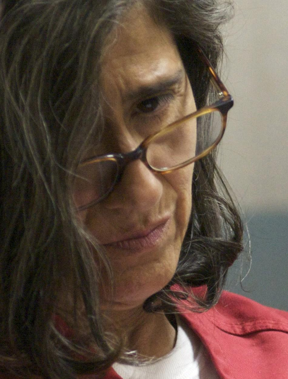 Nancy Garrido sits in a courtroom during her arraignment in the El Dorado Superior Court in Placerville