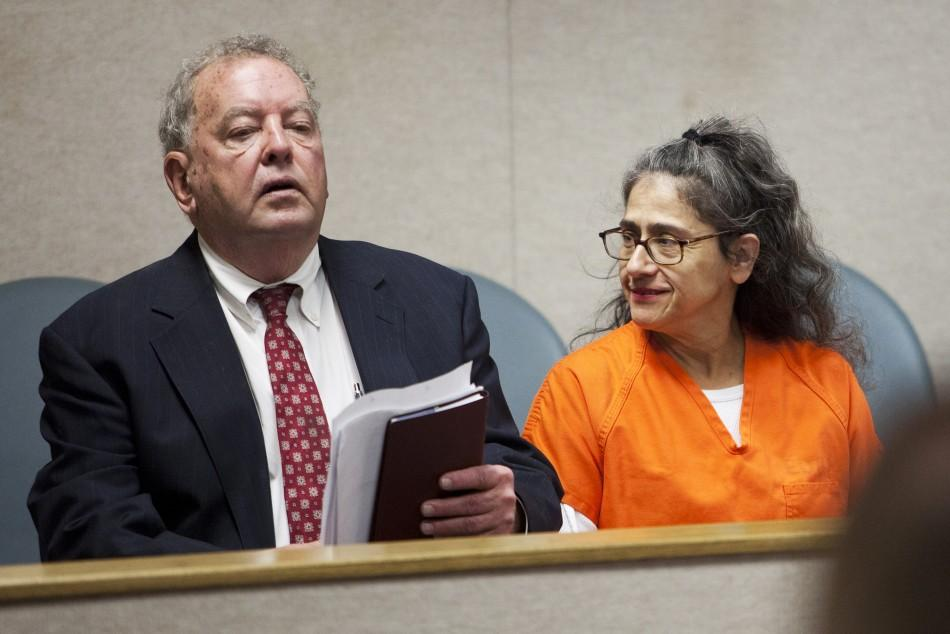 Nancy Garrido and her attorney Tapson appear in court as she pleaded not guilty in Placerville