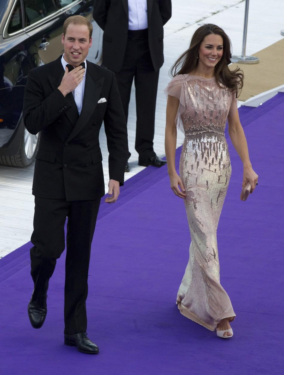 Britain's Prince William and Catherine, Duchess of Cambridge, arrive at the 10th annual Absolute Return for Kids (ARK) gala dinner at Kensington Palace in London June 9, 2011.
