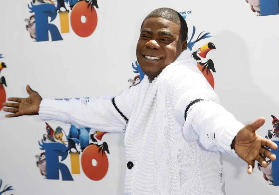 "Actor Tracy Morgan arrives at the premiere of the film ""Rio"" at Grauman's Chinese Theater in Hollywood, California April 10, 2011."