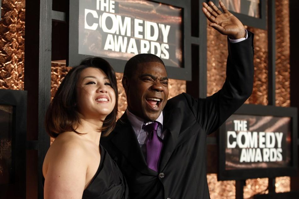 "Actor Tracy Morgan (R) arrives with a guest at ""The Comedy Awards"" in New York City March 26, 2011."