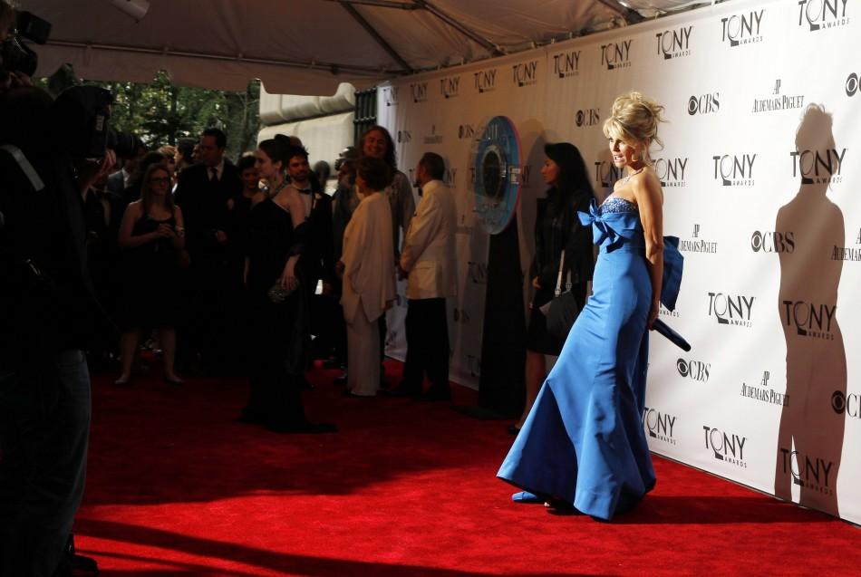 Model Christie Brinkley arrives for the American Theatre Wing's 65th annual Tony Awards ceremony in New York, June 12, 2011.