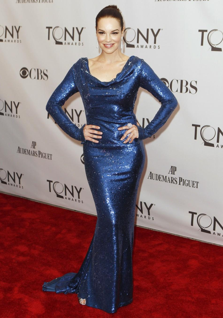 Tammy Blanchard, nominated for best performance by an actress in a featured role in a musical for 'How to Succeed in Business Without Really Trying', poses during the American Theatre Wing's 65th annual Tony Awards ceremony in New York, Jun
