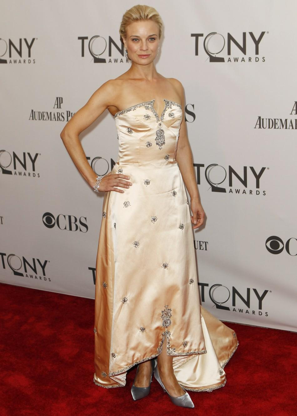 Hannah Yelland, nominated for best performance by an actress in a leading role in a play for 'Brief Encounter,' arrives for the American Theatre Wing's 65th annual Tony Awards ceremony in New York, June 12, 2011.