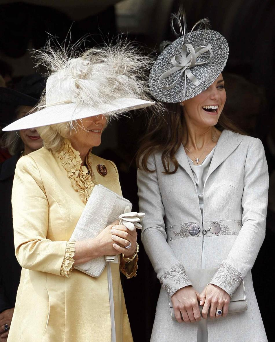 Kate Middleton and Camilla share a laugh