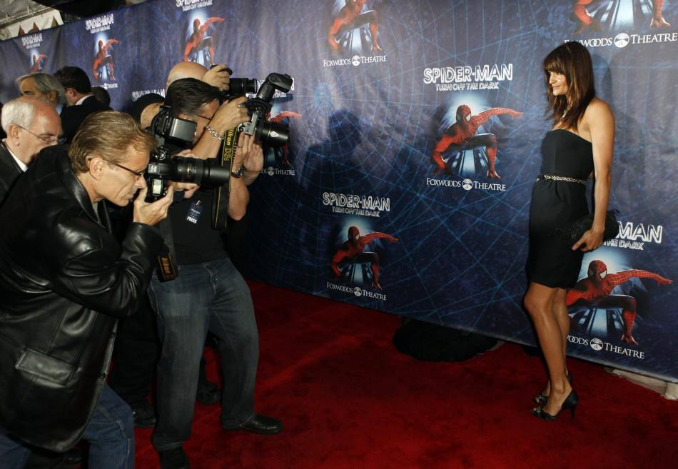 "Model Helena Christensen arrives at the Broadway opening of ""Spider-Man: Turn Off The Dark"" in New York June 14, 2011."