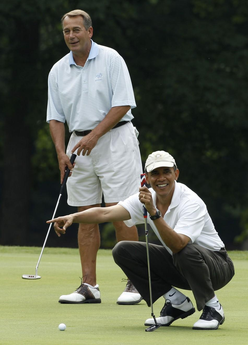U.S. President Barack Obama and U.S. Speaker of the House John Boehner