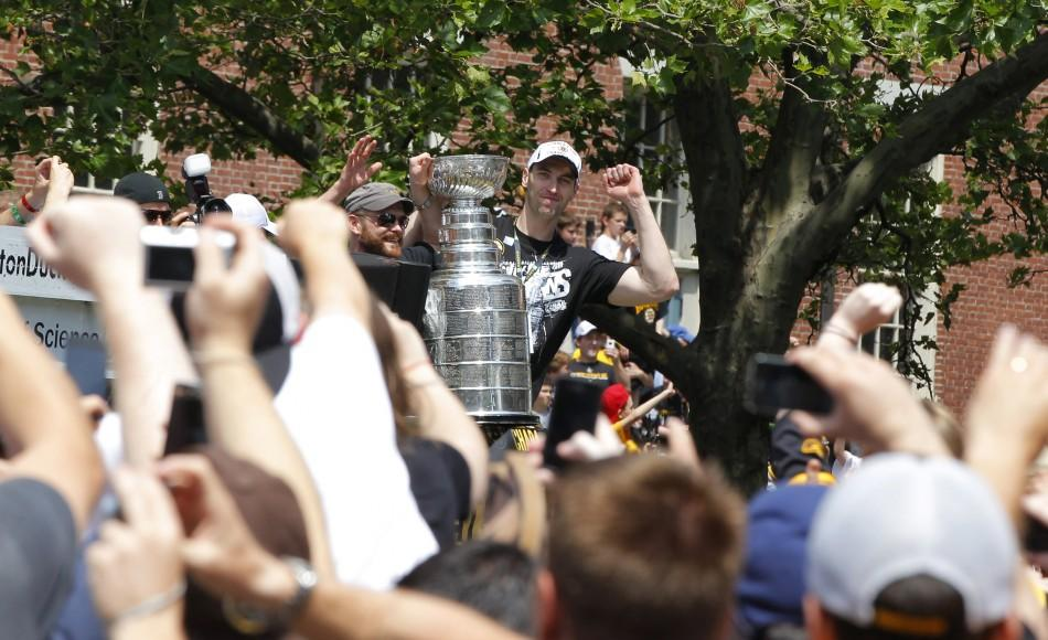 Boston Bruins Parade through the streets of Boston