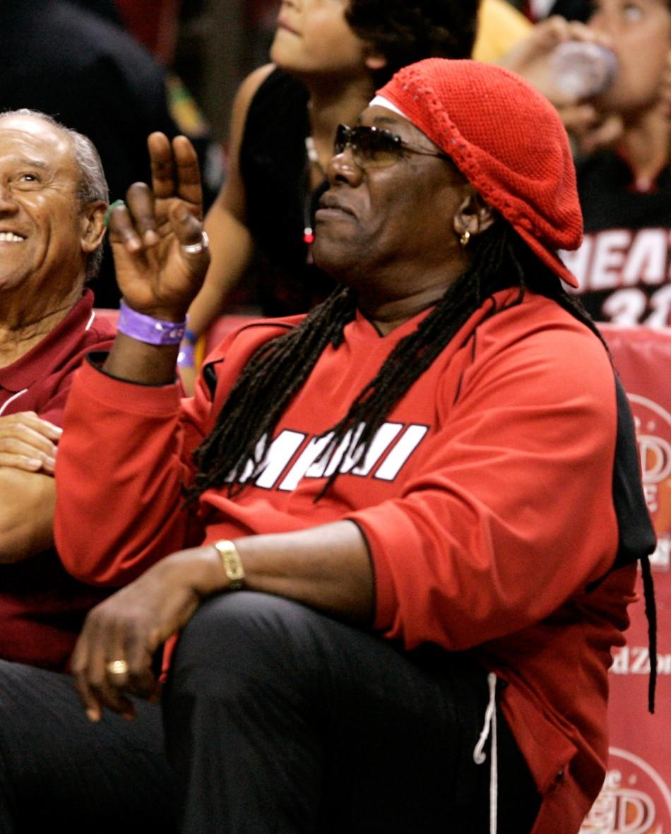Clarence Clemons at the Detroit Pistons Miami Heat Game 5 of the NBA Eastern Conference Finals in Miami.