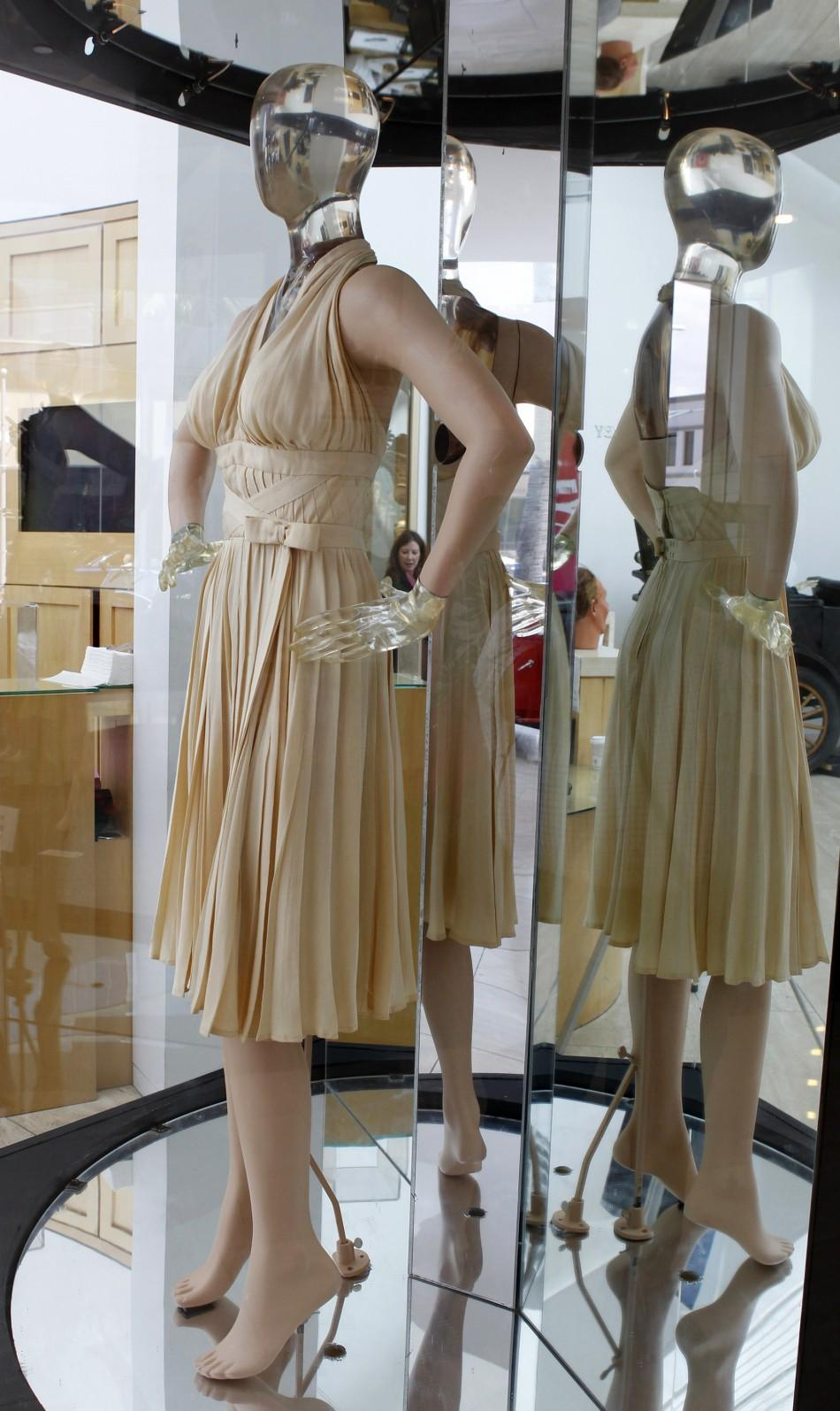The ivory-pleated Subway dress worn by actress Marilyn Monroe from the 1955 film The Seven Year Itch