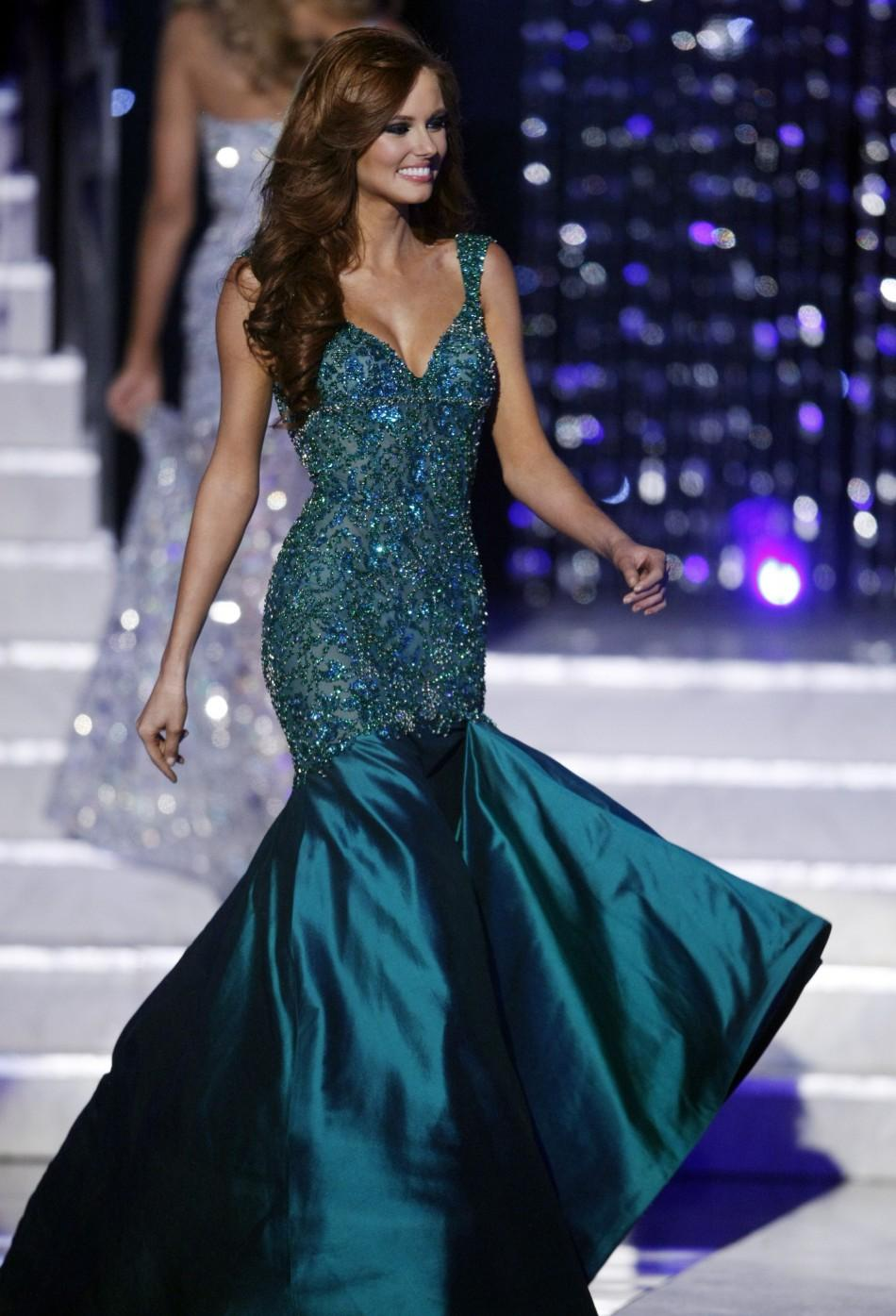 Miss California Alyssa Campanella competes in her evening gown during the 2011 Miss USA pageant in the Theatre for the Performing Arts at Planet Hollywood Hotel and Casino in Las Vegas, Nevada June 19, 2011.