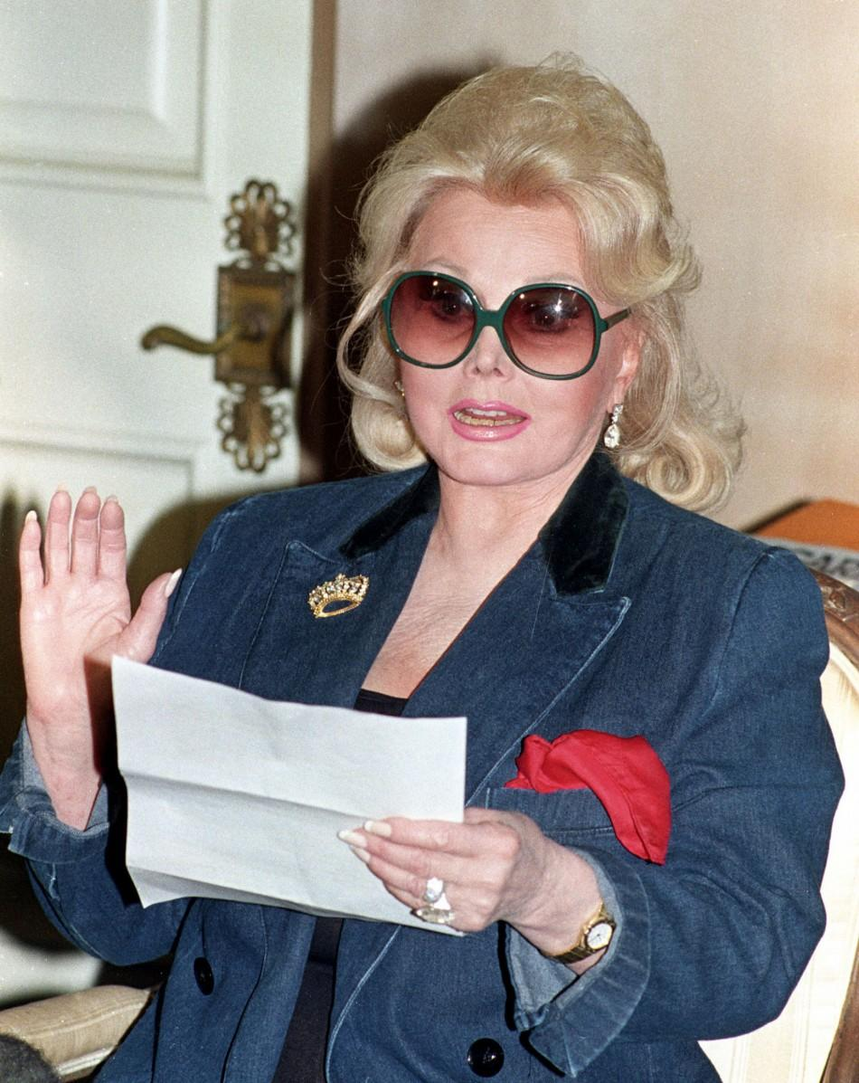 Ailing Zsa Zsa Gabor celebrates husband's 68th birthday with champagne.
