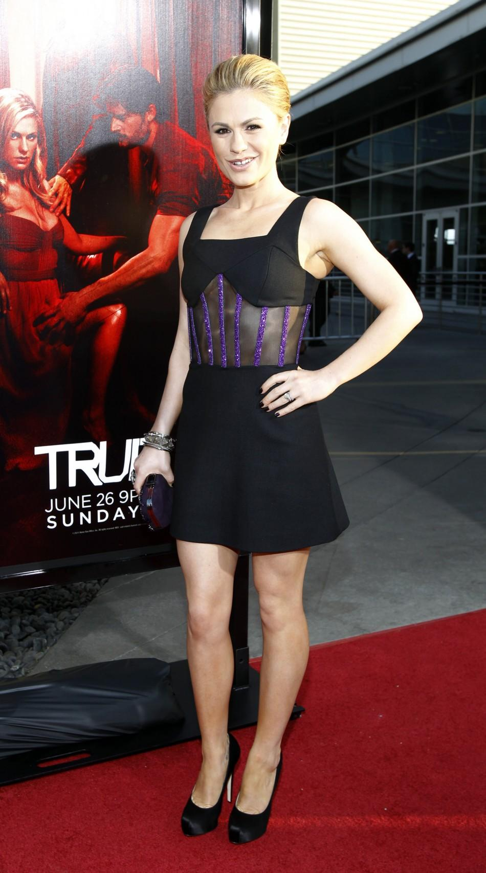 "Cast member Anna Paquin poses at the premiere for the fourth season of the HBO television series ""True Blood"" at the Cinerama Dome in Hollywood, California June 21, 2011. The fourth season debuts on June 26."