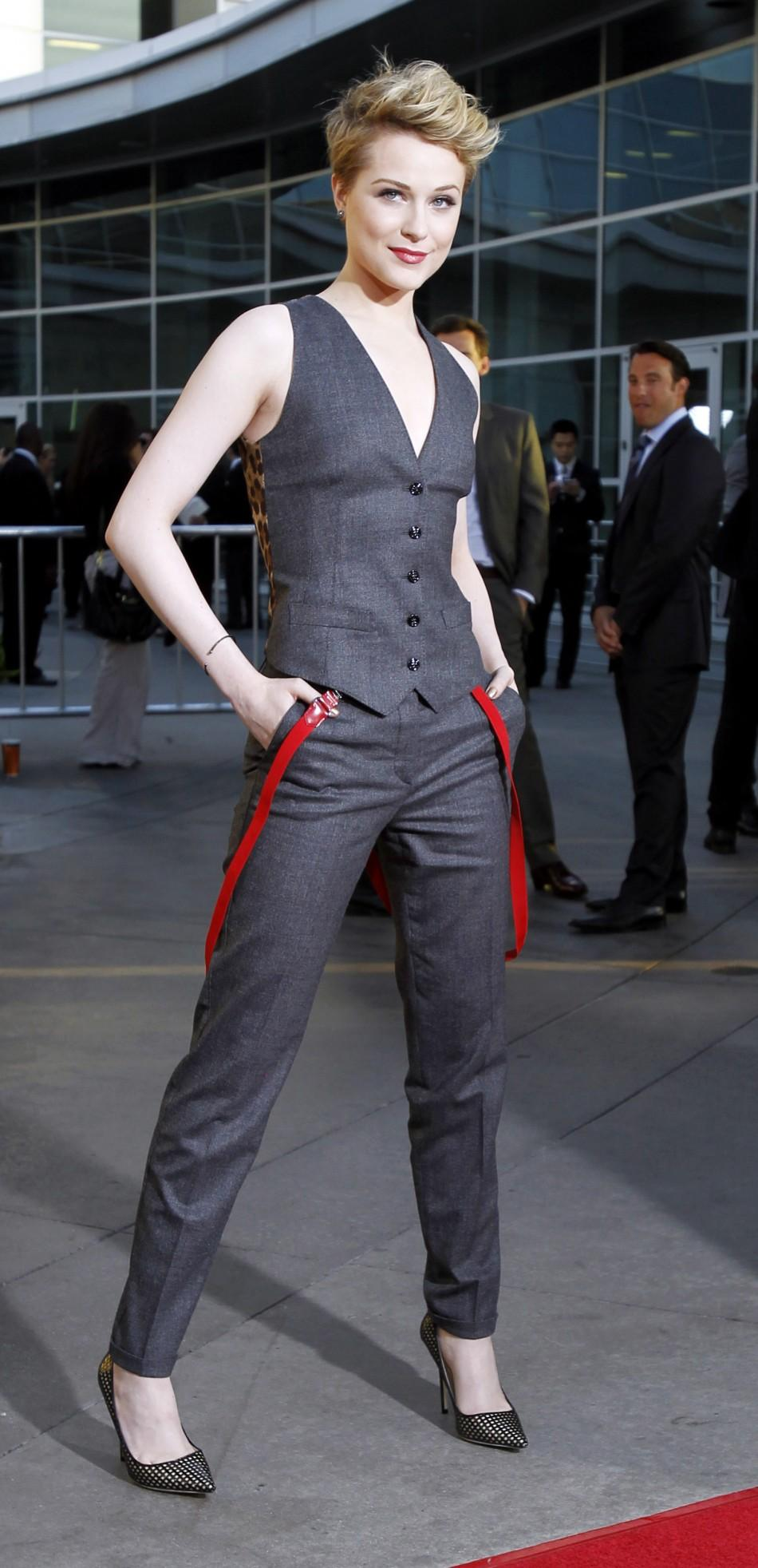 "Cast member Evan Rachel Wood poses at the premiere for the fourth season of the HBO television series ""True Blood"" at the Cinerama Dome in Hollywood, California June 21, 2011. The fourth season debuts on June 26."