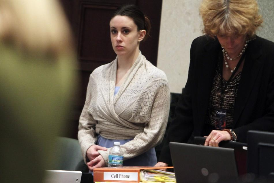 Casey Anthony stands with her attorney Dorothy Clay Sims