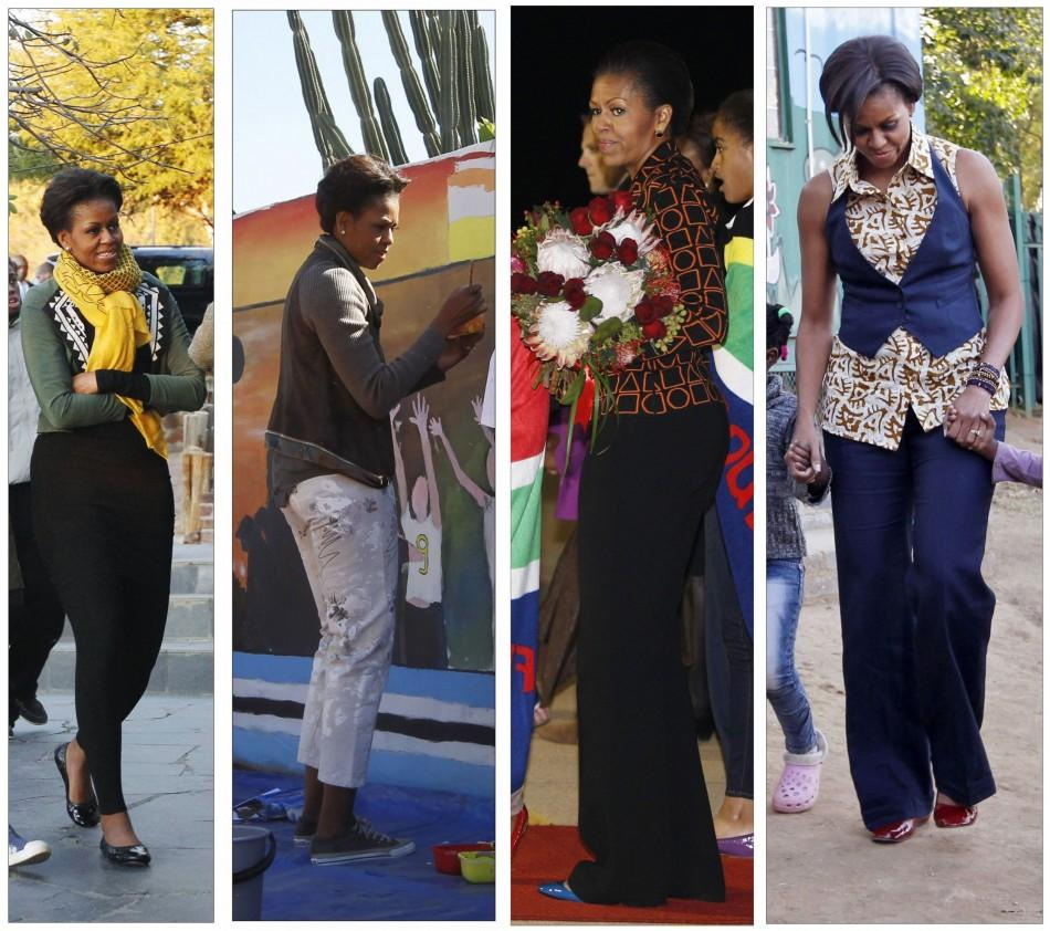 Fashion watch: Michelle Obama tours Africa in style