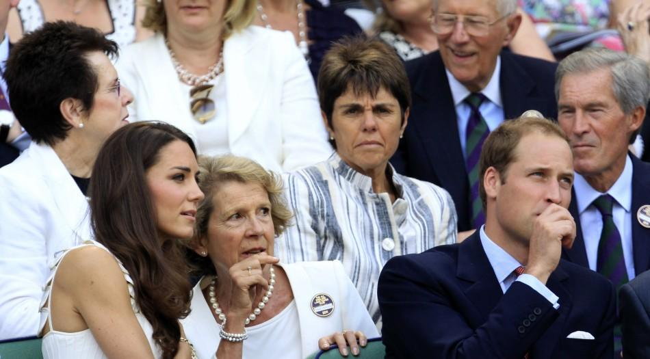 Britain's Catherine, Duchess of Cambridge Speaks to Jane Henman
