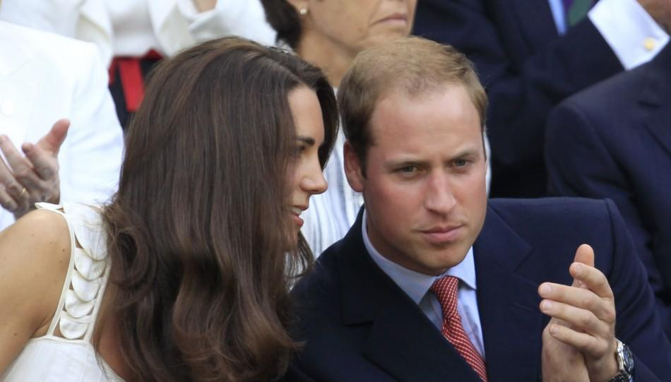 Britain's Catherine, Duchess of Cambridge with Her Hhusband Prince William