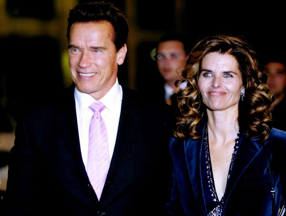 "California Governor Schwarzenegger and his wife Shriver arrive at premiere of ""The Kid & I"" in Hollywood"