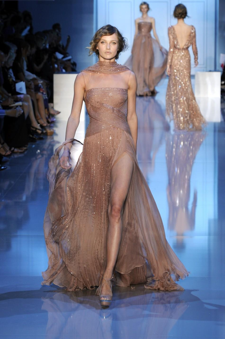 A creation by Lebanese designer Elie Saab