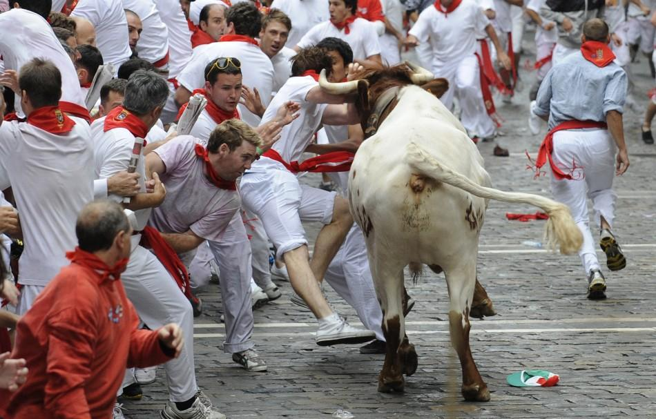 Running of the Bulls 2011. Pamplona, Spain