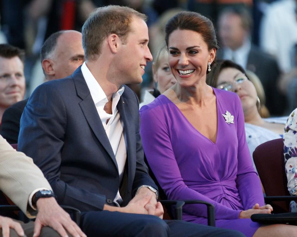 Britain's Prince William and his wife Catherine, Duchess of Cambridge, take part in Canada Day celebrations on Parliament Hill in Ottawa