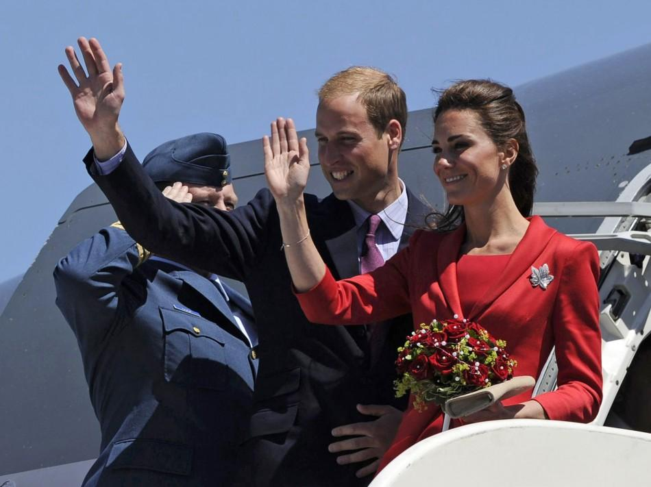 Kate and William wave goodbye