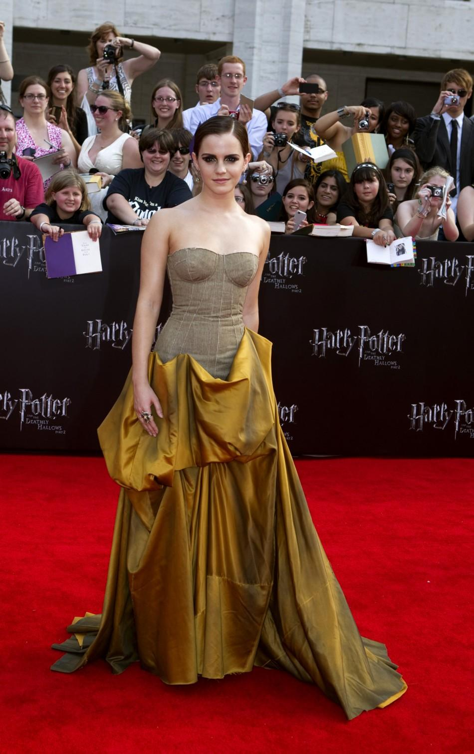 "Cast member Watson arrives for premiere of the film ""Harry Potter and the Deathly Hallows: Part 2"" in New York"
