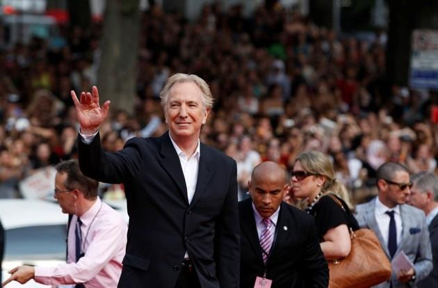 "Cast member Rickman arrives for premiere of the film ""Harry Potter and the Deathly Hallows: Part 2"" in New York"