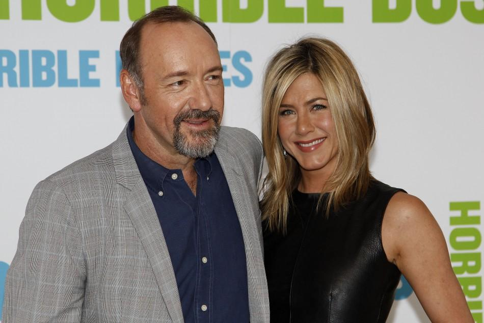 Jennifer Aniston Opts for Racy Leather Dress at Horrible Bosses London Premiere.