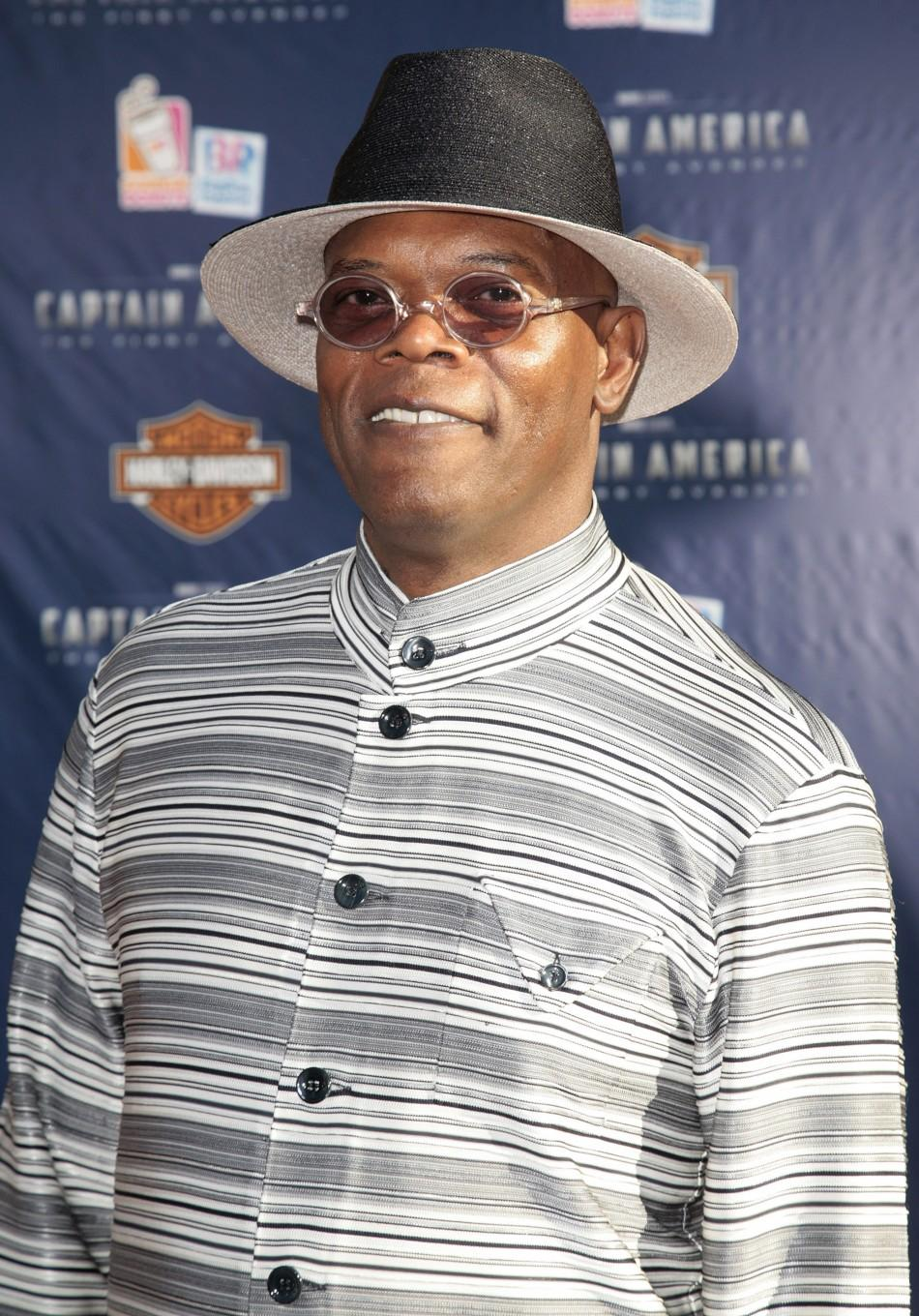 "Cast member Samuel L. Jackson arrives at the ""Captain America: The First Avenger"" film premiere in Hollywood"